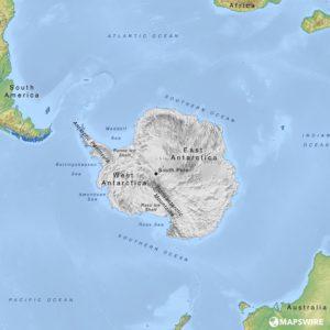 mapa světa - Antarktida