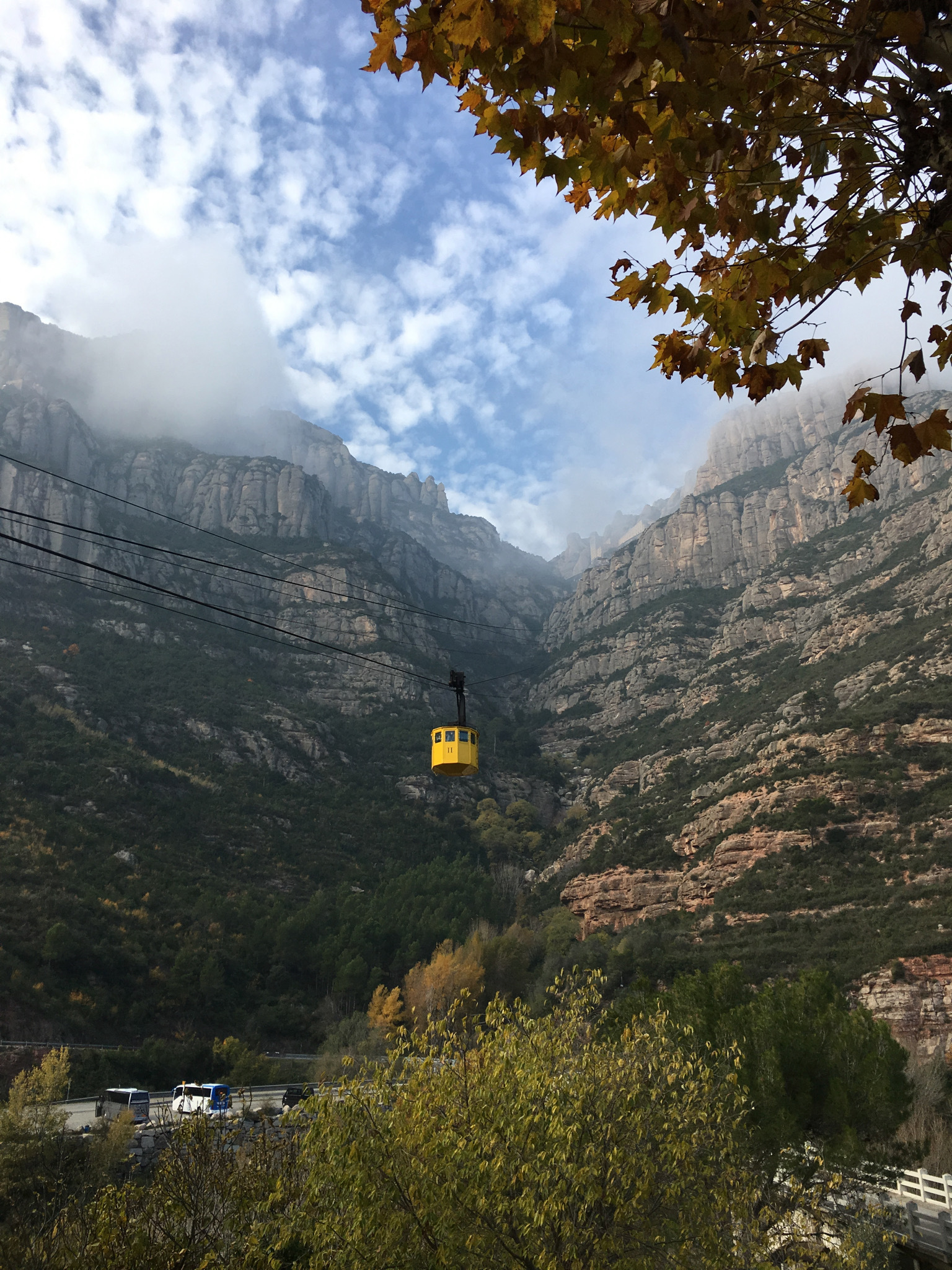 lanovkou na Montserrat
